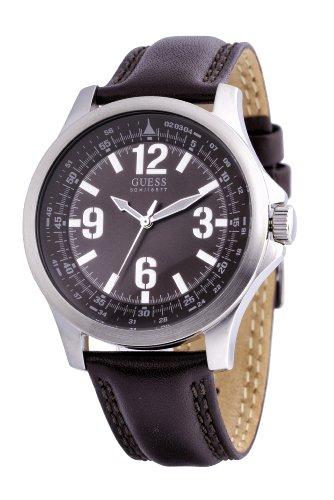Guess W65017G2 - Reloj analógico de cuarzo para hombre con correa de piel, color marrón