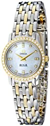 Omega Womens 4375.75 White Mother-Of-Pearl Dial DeVille