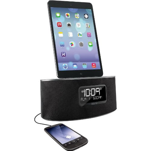 ihome idl46gc dual charging stereo fm clock radio with. Black Bedroom Furniture Sets. Home Design Ideas