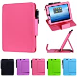 i-UniK E FUN 2013 Nextbook Premium 8HD Multi-Angle Slim Protection Case / Cover Dual Core with Google Play [NOT FIT 2014 Nextbook 7.85 / Nextbook 8] - (Hot Pink)