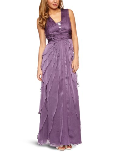 Adrianna Papell Drape Gown With Sequin Bodice Sleeveless Women's Maxi Dress Violet 8