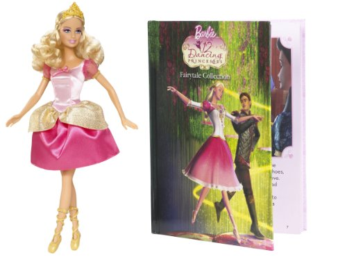 41CaK%2BqS2EL Cheap  Barbie 12 Dancing Princesses Genevieve Doll and Book Giftset