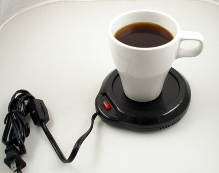 Cheapest Price! Home-X Mug Warmer, Desktop Heated Coffee & Tea - Candle & Wax Warmer (Black)