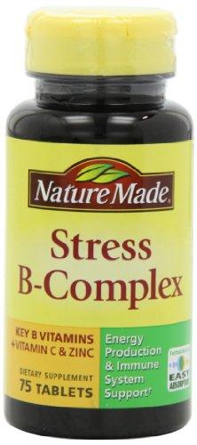 凑单品:Nature Made Stress B Complex with Zinc Tablets 压力缓解 B族维生素 75粒 $2.74(需Coupon)