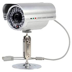 LYD CM712CH Water-Resistant Camera with 50m Night Vision Range 1/3 CCD