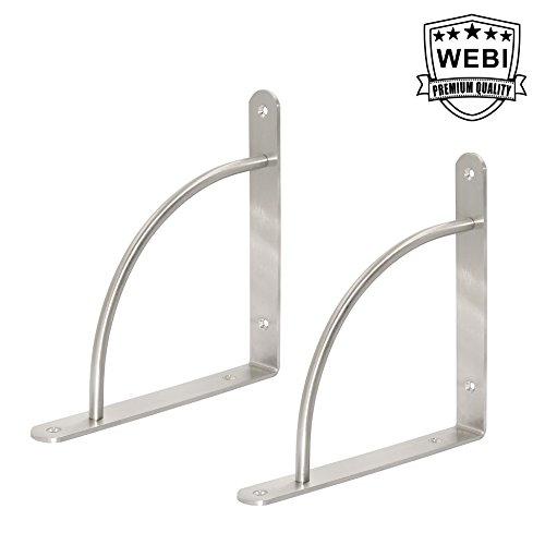 WEBI Heavy Duty Stainless Steel Corner Braces, 8.6