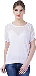 TSAVO Women's Regular Fit Top (1543_WHITE, White, Large)