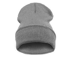 4sold - Bonnet -  Homme noir Noir Taille universelle -  Noir - Plain gray - Taille unique