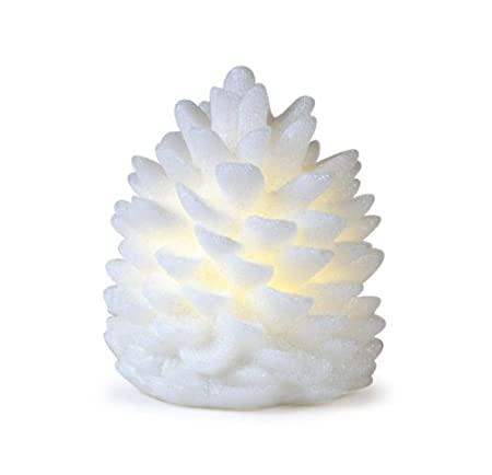 Nature's Glow Battery-Operated LED Pine Cone Flameless Christmas Candle by Melrose