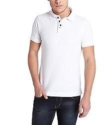 Erdferkel&Wobbegong Men's Combed Cotton Polo (MPT001--S, White, Small)