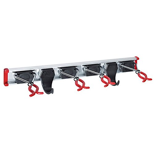 Bruns Tool Rack, 0.5m (19 in) with 4 Tool Holders, 2 Hooks (Broom Organizer Spoga compare prices)