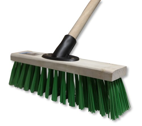 12-stiff-green-pvc-sweeping-brush-broom-cleaning-indoor-outdoor-stable-yard