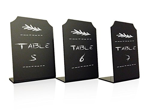 Erasable Chalkboard Memo Message Signs – Mini Blackboard for Place Cards, Menus and Events – Set of Three 4 x 6 Boards – By Advanced Group Corp