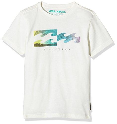 Inversa Billabong-Maglietta a maniche corte da ragazzo, colore: bianco, taglia: 16 anni (taglia del produttore: 16)