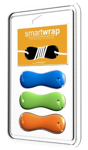 Sumajin Smartwrap Earphone Cord Manager (Set Of 3 - Blue, Green, Orange)