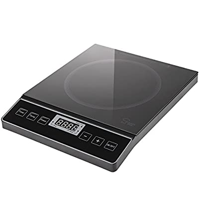 Chef's Star Touch Panel 1800W Portable Induction Cooktop Countertop Burner