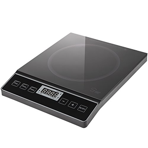 Chef's Star 1800W Portable Induction Cooktop Countertop Burner - 120V / 60Hz - Black (Stove Burner Electric compare prices)