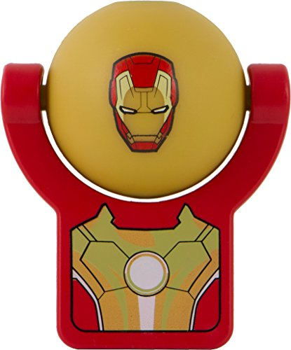 Jasco Products 13342 Marvel Iron Man 3 Projectables Led Plug-In Night Light, Red/Gold