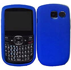 For Pantech P5000 Link 2 II Soft Silicone Rubber Skin Cover Case Cool Blue + with Free Gift Aplus Pouch