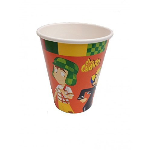 El Chavo del Ocho Party Cups Favor Birthday x8 Decoration Supplies - 1