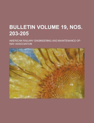 Bulletin Volume 19, Nos. 203-205