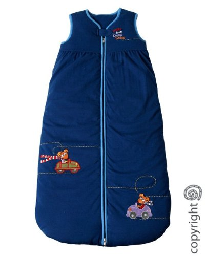 Bright Bots Baby Soft Jersey Cotton 3.5 Tog Navy Sleeping Bag size 0-3 months