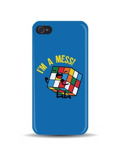iPhone 5/5S di 'I'm disordine cubo di Rubik ' Geek 3D cover cellulare