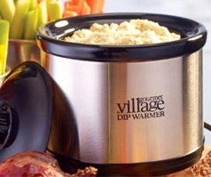 Gourmet du Village Electric Stainless Steel Dip Warmer