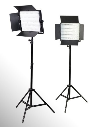 Ephoto 2 X 600 Led Photo Video Light Lighting Video Panel Light Stand Kit By Ephotoinc Uls600Hsx2