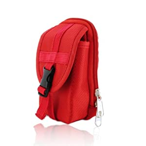 Red Camera Case Bag for Nikon COOLPIX S3500 Compact Digital Camera (also S3300)