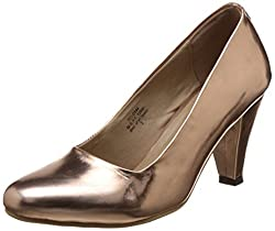 Bata Womens Lily Golden Pumps - 3 UK (7510144)