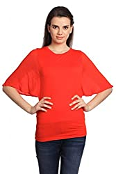 Women Round Neck Extended Sleeve Casual Tshirt