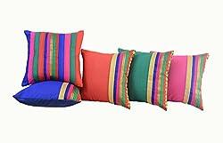 meSleep Brocade Cushion Covers - Set of 5