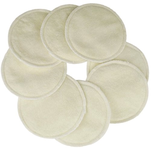 Naturally Nature Super Soft Washable Nursing Pads 4 Layers (4 pairs-8 Pads) (Bamboo Viscose) - 1