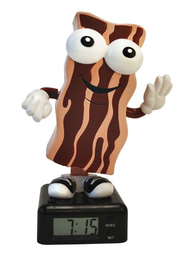 BigMouth Inc The Wakin Shakin Bacon Alarm Clock
