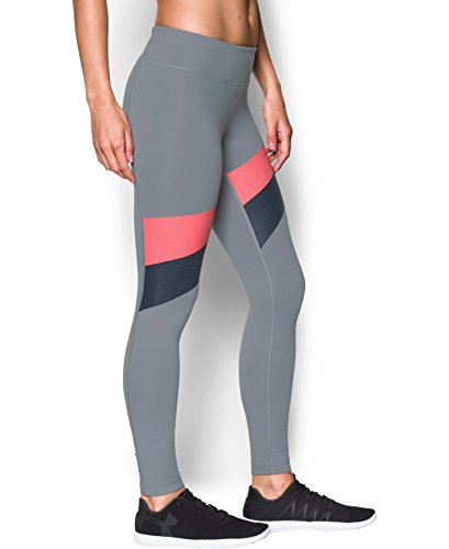 Under Armour Women's Mirror Stripe Legging, Steel (035), X-Large