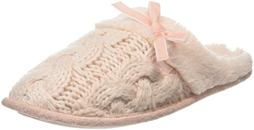 totes-totes-ladies-cable-knit-mule-slipper-chaussons-femme-rose-rose-s