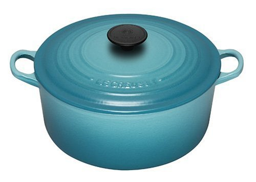 gilalole le creuset cocotte ronde en fonte turquoise 20 cm import grande bretagne. Black Bedroom Furniture Sets. Home Design Ideas