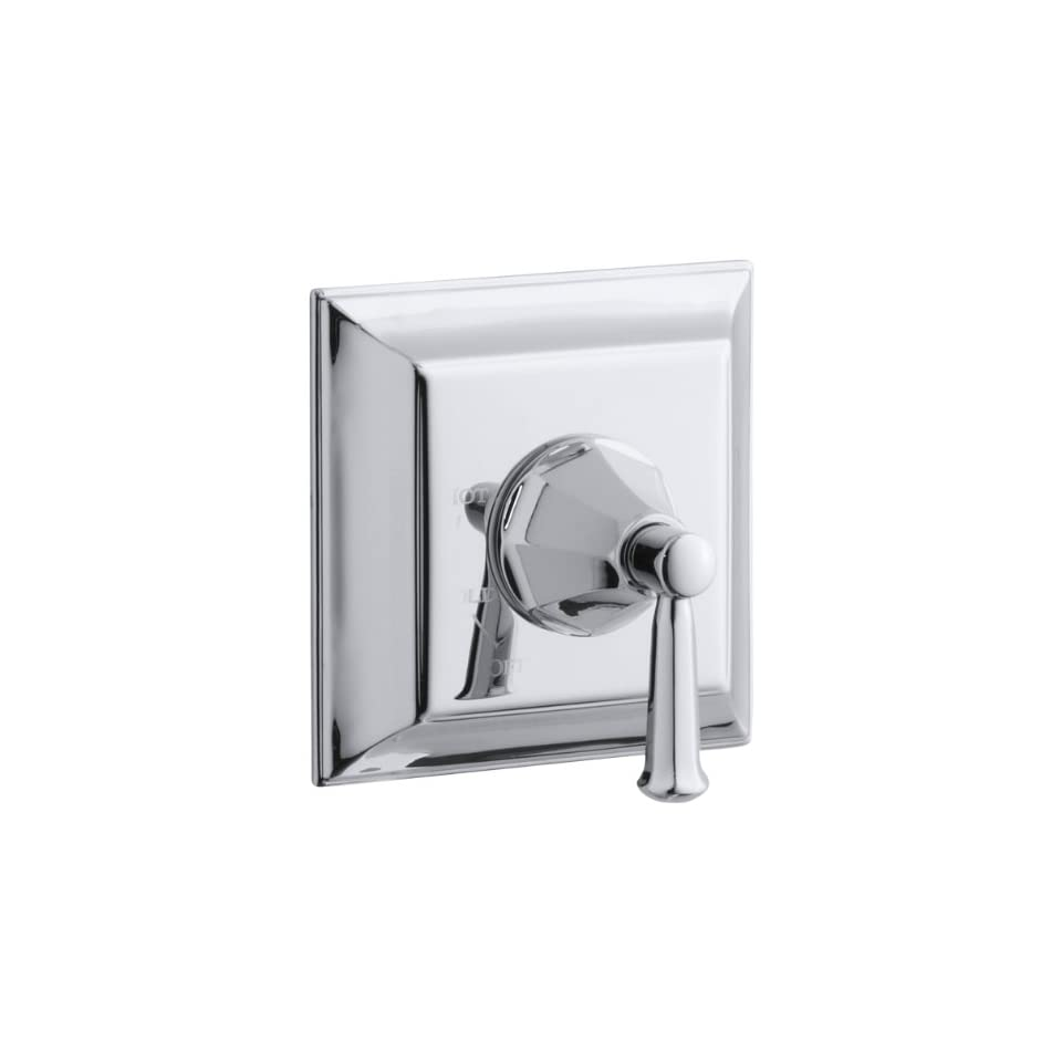 KOHLER K T463 4S CP Memoirs Rite Temp Pressure Balancing Valve Trim with Stately Design, Polished Chrome