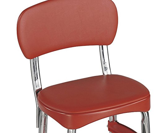 Cosco Retro Counter Chair/Step Stool, Red Furniture Chairs Bar Stools