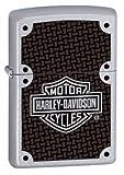 Zippo Harley-Davidson Full Face Bolts Lighter (Silver, 5 1/2 x 3 1/2 cm)