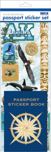 Passport Sticker Sets PP59124 Passport or Scrapbooking Sticker Set-Alaska - 1