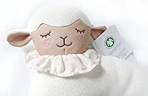Organic Cotton Baby Head Positioner and Shaping Pillow – Helps Prevent Flat Head Syndrome (Plagiocephaly) and Provides Head and Neck Support for Your Newborn Baby (0-12 Months) (1-Pack, Little Lamb)