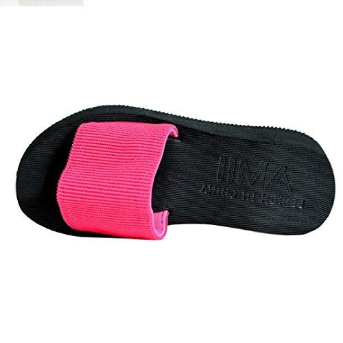 Fortan Scarpe Donna sandali di estate Slipper indoor & outdoor (Rosso, EU=36)