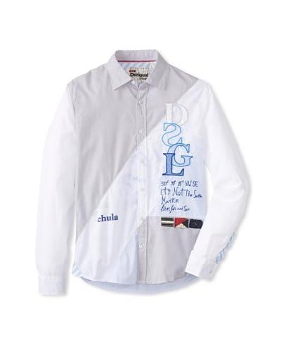 Desigual Men's Bombay Long Sleeve Woven Shirt