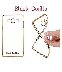 Black Gorilla Premium Soft Flexible Gold Electroplated Edge Back Case Cover For Samsung Galaxy J3