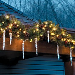 Shooting Star Icicle Light String - White - Improvements