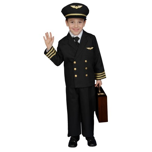 Pilot Boy Jacket Costume Set - Toddler T4