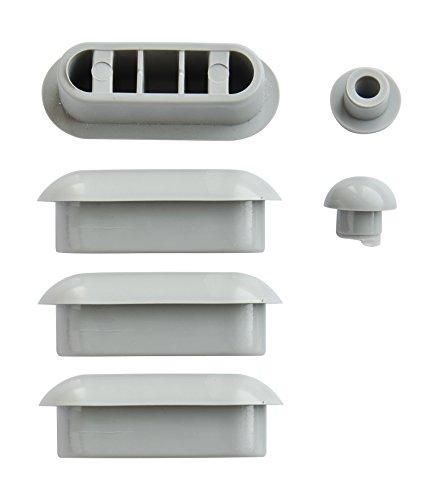 WC-Sitz-Puffer Nr. 8 | Auflagestopfen für Toilettensitz | Abstandhalter für WC-Brille | Dämpfer | Weiß | Kunststoff