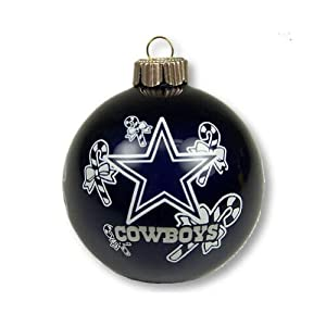Amazon.com : Dallas Cowboys Small Painted Round Candy Cane ...
